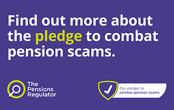 Logo for the scams pledge campaign