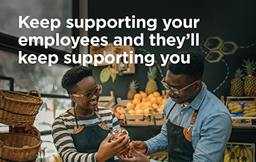 Automatic enrolment campaign image encouraging employers to keep supporting their employees and they will keep supporting the employer